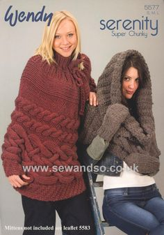 Snood and Cape in Wendy Serenity Super Chunky (5577) - Sew and So