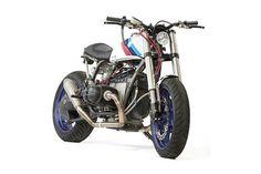 "BMW R100RS Street Tracker ""BMW Motosport"" by JRM Motorcycle #motorcycles #streettracker #motos | caferacerpasion.com"