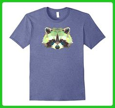 Mens Raccoon Geometric Triangle T-Shirt Tee Shirt Animal Vector T XL Heather Blue - Animal shirts (*Amazon Partner-Link)