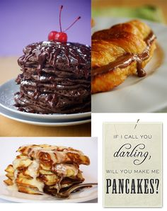 Triple Chocolate Pancakes (vegan!), Nutella Croissant French Toast ...