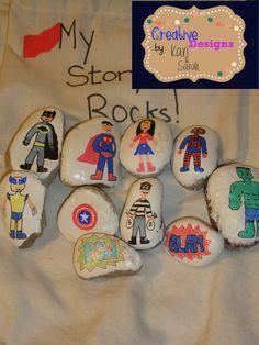 Super Hero Story Stones by CreativeDesignsbyKS on Etsy