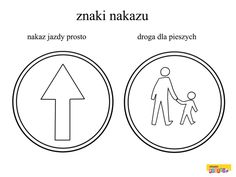 Znaki drogowe - kolorowanki dla dzieci Techno, Coloring Pages, Symbols, Peace, Education, Logos, Montessori, Therapy, Quote Coloring Pages