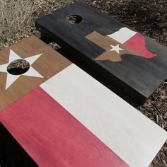 Cornhole Game by ColoradoJoes Texas State and Texas Flag on Etsy, $225.00