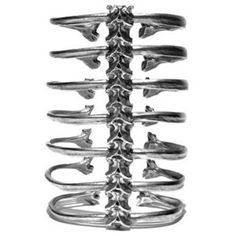 Spine Bracelet ... hmmm, this is cool, what can I do to make something similar but, er, less technical?