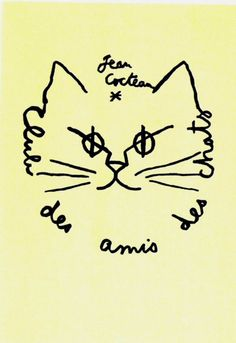 Club des amis des chats   by Jean Cocteau