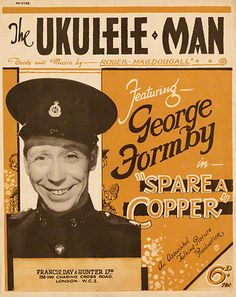 1941 sheet music cover for 'The Ukulele Man' from the film 'Spare a ...