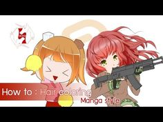 [Clip Studio Paint/Manga Studio] How to : Hair coloring [Eng ver.] - YouTube