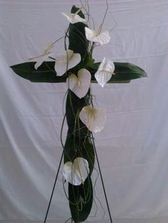 antherium cross funeral flowers