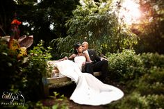 enchanted forest wedding couple