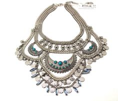 BCBGeneration Silver-Tone Multi-Row Drama Frontal Necklace  #Bcbgeneration #Frontal