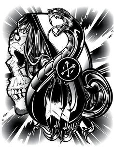 Art by Joshua Smith Digital Illustration, Graphic Illustration, Illustrations, Crown Art, Sugar Skull Art, Motorcycle Art, Lowbrow Art, Gothic Art, Dark Fantasy Art