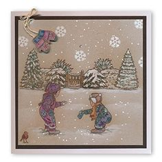 Groovi Square Plates - Winter Scenes Collection (Set of Fall Cards, Xmas Cards, Create And Craft, Crafts To Make, All Things Christmas, Christmas Crafts, Clarity Card, Parchment Cards, Square Plates