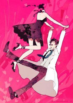 Celty & Shinra, the one couple that i actually supported, a crazy underground doctor and a headless fairy