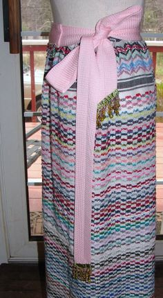 Upcycled Boho Skirt  Repurposed Tablecloth  by NopalitoVintageMore, $40.00