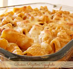 Chicken Spaghedo {Rigatoni Pasta Bake} on MyRecipeMagic.com