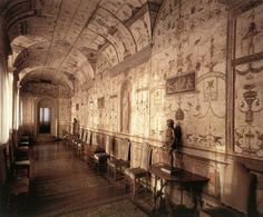 Raphael at the Vatican Loggia, Vatican, 1518-19 #grotesques #decor #art #painting #antique