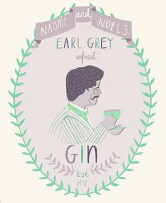 A label I designed for the festive gin me and Noel are going to make
