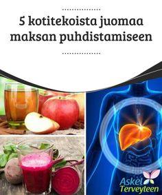 5 kotitekoista juomaa maksan puhdistamiseen  Jotta maksa pysyisi terveenä ja toimisi oikein, on suositeltavaa nauttia luonnollisia ruokia ja juomia, jotka auttavat puhdistamaan ja suojaamaan sitä. Frisk, Smoothies, Detox, Juice, Food And Drink, Health Fitness, Tea, Vegetables, Healthy