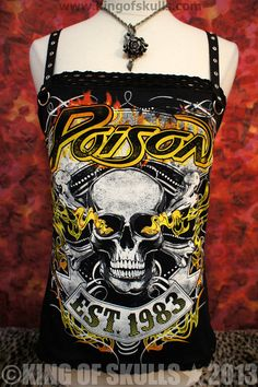 Poison DIY Tank Top M  80s Hair Glam Metal Tshirt by kingofskulls,