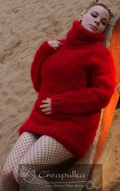 Fluffy Sweater, Angora Sweater, Thick Sweaters, Sweaters For Women, Gros Pull Mohair, Red T, Sweater Outfits, Gorgeous Men, Knit Dress