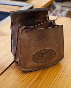 An old leather Shell Pouch. It still many more years of use left.