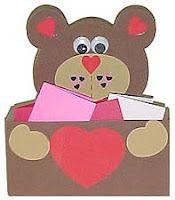 bear hug valentine holder