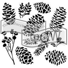 branch leaves stencils on Etsy, a global handmade and vintage marketplace. Stencil Templates, Stencil Patterns, Stencil Designs, Craft Stencils, Drawing Stencils, Painting Stencils, Quilting Templates, Sign Painting, Free Stencils