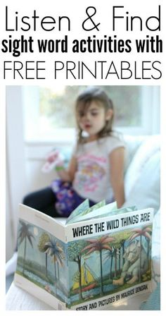 Free Printable Sight word activity for Where The Wild Things Are from No time for flash cards