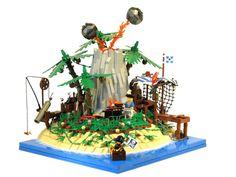 BBQ on Volcanic Island   The Brothers Brick   LEGO Blog