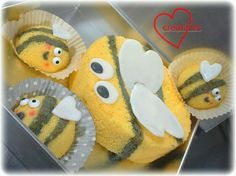 Loving Creations for You: Lemon Bees Chiffon Cake and Cupcakes