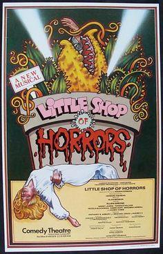 LITTLE SHOP OF HORRORS (1983) Original Theatre Poster