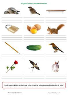 """BLOG EDUKACYJNY DLA DZIECI: WYRAZY Z """"Ó"""", """"U"""", """"RZ"""", """"Ż"""", """"CH"""", """"H"""" - KARTY PRACY Speech And Language, Montessori, Teaching, Education, School, Blog, Speech Language Therapy, Cuba, Languages"""
