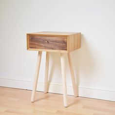 Retro Bedside Table Scandinavian Style Night Stand Mid-century