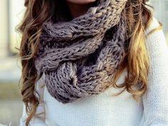 Big scarfs.