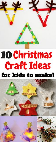 Crafts for children in the Christmas Holidays! Christmas Craft Round-up Crafts for children in the Christmas Holidays! Christmas Craft Round-up of fun and easy peasy cute Christmas Crafts for kids. I love the lolly sticks variations! Childrens Christmas Crafts, Christmas Crafts To Make, Christmas Activities For Kids, Preschool Christmas, Easy Crafts For Kids, Simple Christmas, Handmade Christmas, Holiday Crafts, Christmas Holidays