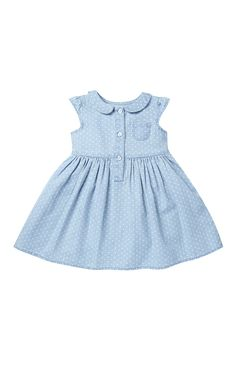 Jeans maquinetados para a moda infantil - Frocks For Girls, Kids Frocks, Dresses Kids Girl, Little Girl Dresses, Kids Outfits, Baby Dress Design, Frock Design, Toddler Girl Style, Toddler Dress
