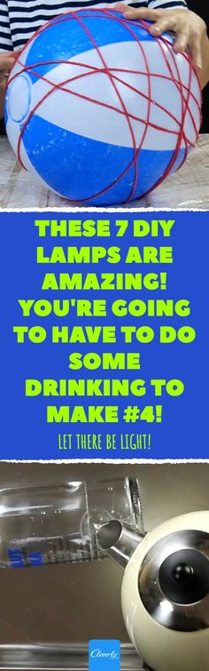 Sieh dir an, wie man die 7 coolsten DIY-Lampen macht Cool Diy, Home Hacks, Glass Bottles, Tricks, Unique, Fun, Origami, Crochet, Crafts