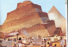 Did the Egyptians build a spiral ramp to construct each pyramid?