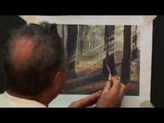 ▶ How to paint sunlight beaming through a forest - YouTube