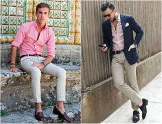 light pink shirt men