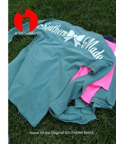 Looking for discount designer fashion? Come visit www.kpopcity.net today!!! Comfort Color Southern Made Long Sleeve T Shirts by InkOnAShirt, $21.00