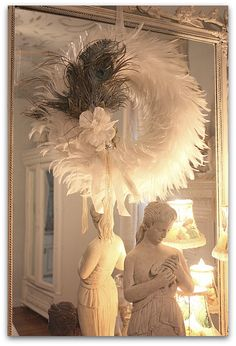 Winter White Feather Wreath, OMG a way to have lots of contained