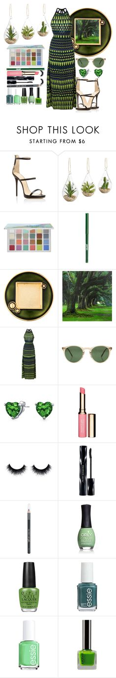 """Long Green Dress"" by luablackoficial ❤ liked on Polyvore featuring Giuseppe Zanotti, Pier 1 Imports, Sephora Collection, jane, Jay Strongwater, M Missoni, Oliver Peoples, Bling Jewelry, Clarins and Shiseido"