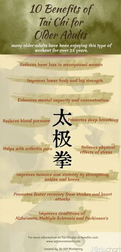 10 Benefits Of Tai Chi For Older Adults Infographic - #TaiChi #Taijiquan