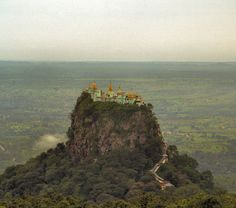Popa Taungkalat temple, Myanmar.
