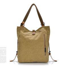 Women Canvas Casual Multifunctional Microfiber Leather Large Capacity Handbag Shoulder Bags Backpack Online - NewChic