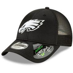 e3264d0881a Men s Philadelphia Eagles New Era Black Repreve Trucker 9FORTY Snapback  Adjustable Hat