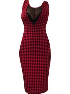 Switchblade Stiletto Women's Red Gingham Dress