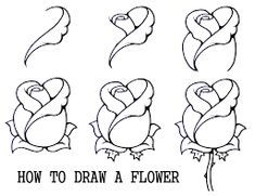 Drawing videos step by step easy step by step drawing for beginners drawing rose drawing tutorial . Easy Drawing Steps, Step By Step Drawing, Easy Drawings, Easy Rose Drawing, Awesome Drawings, Outline Drawings, Horse Drawings, Tracing Pictures, Easy Pictures To Draw