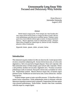 Canadian forces memo latex pinterest template for Elsevier journal latex template